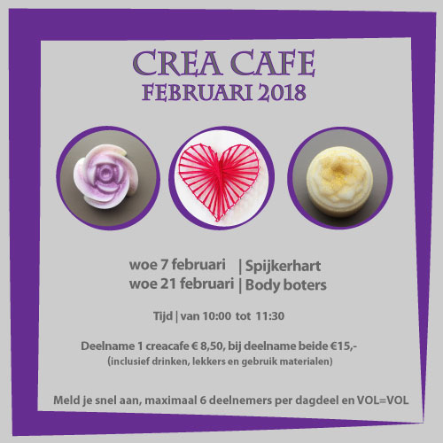spijkerhart en body boters in het crea cafe in februari