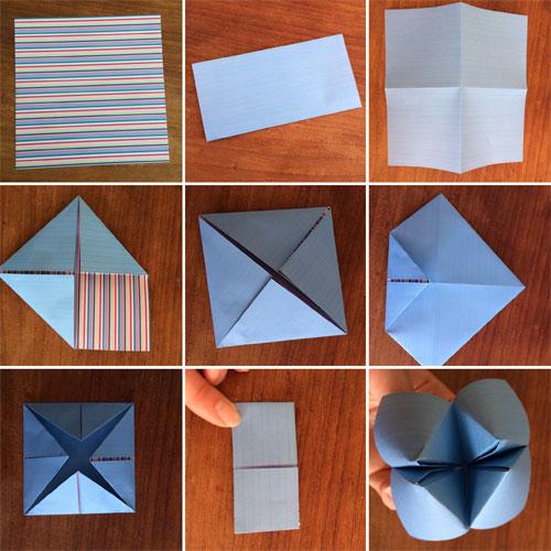 origami happertje vouwen voor uitnodiging
